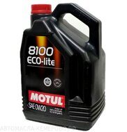 Motul 8100  0w-20  Eco-lite Synth Ester  5л масло моторное