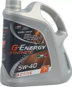 G-Energy  5w-40 Synthetic Active  4л масло моторное
