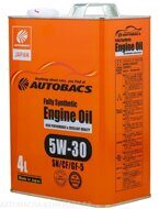 AUTOBACS  5w-30 Fully Synthetic SN/CF/GF-5  4л, масло моторное
