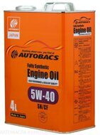 AUTOBACS  5w-40 Fully Synthetic SN/СF  4л, масло моторное